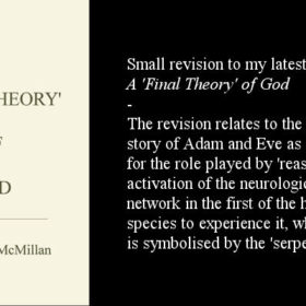 Small Revision to my latest book A 'Final Theory' of God